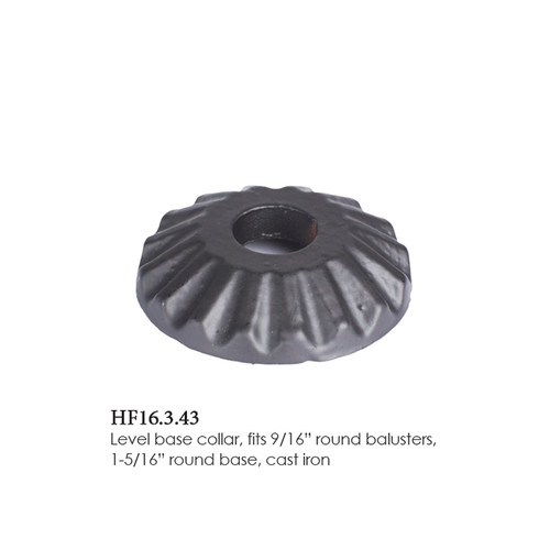 """HF16.3.43 Round Scalloped Shoe for 9/16"""" Round Balusters"""