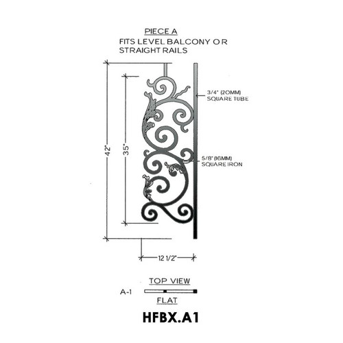 HFBX.A1 Bordeaux Iron Panel