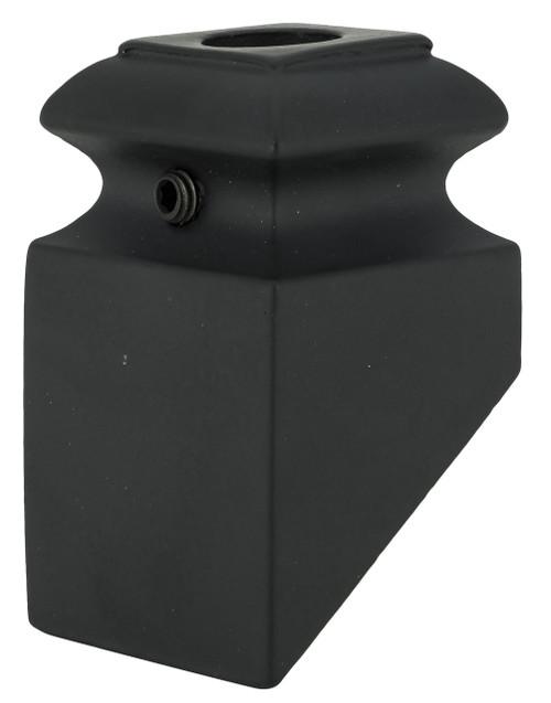 SHR904 12mm Slanted Shoe with Set Screw shown in Satin Black