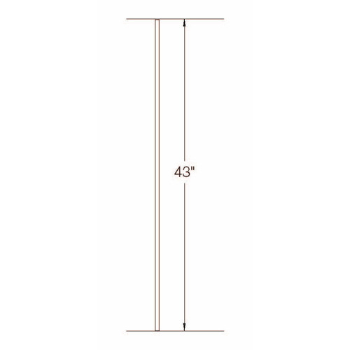 TR01 12mm Round Tubular Steel Tubular Steel Baluster Dimensional Information