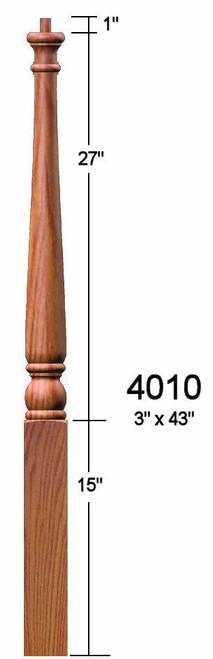 4010 Colonial Poplar Pin Top Starting Newel Post