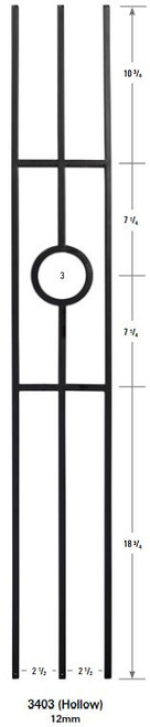 3403 One Ring Forma Baluster Panel