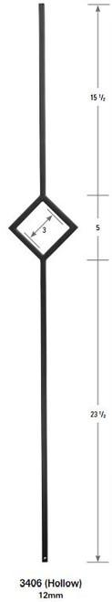3406 One Diamond Tubular Steel Forma Baluster