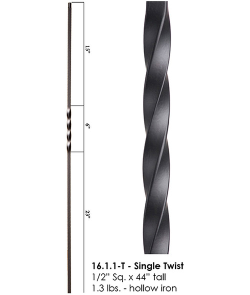 HF16.1.1-T Single Twist Tubular Steel Baluster