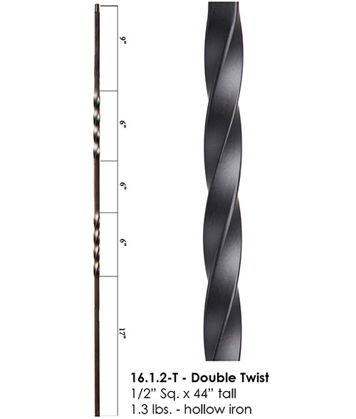 HF16.1.2-T Double Twist Tubular Steel Baluster