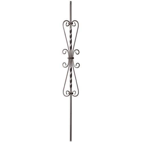 9055SS French Scroll Tubular Steel Baluster
