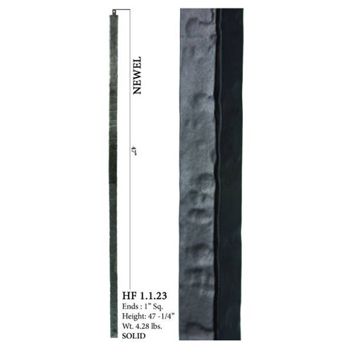HF1.1.23 Square Plain Solid Wentworth Newel Post