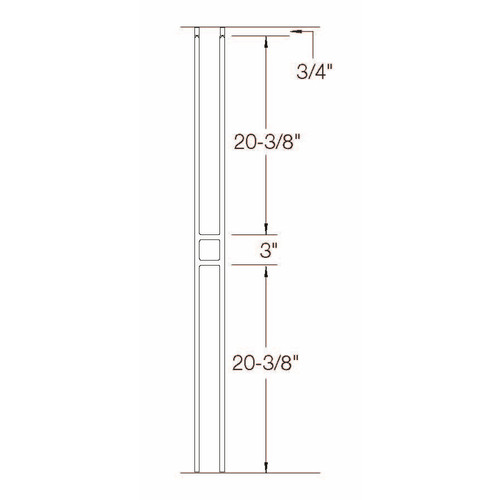 T-20 Single Panel Craftsman Baluster Dimensional Information