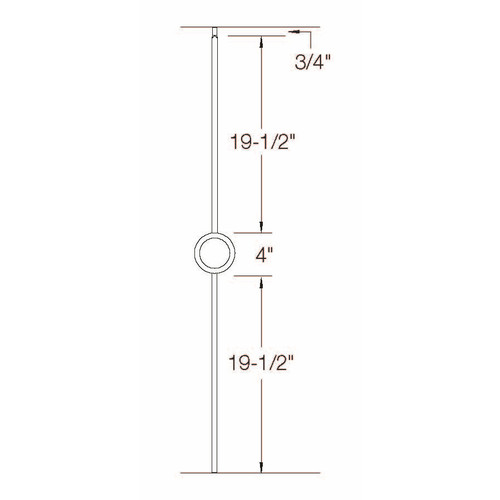 T-72 Single Circle Baluster Dimensional Information