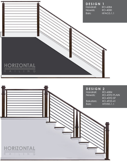 Horizontal Bar Design 1 and 2