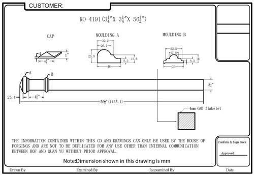 HF-4191 Box Newel CADD Image