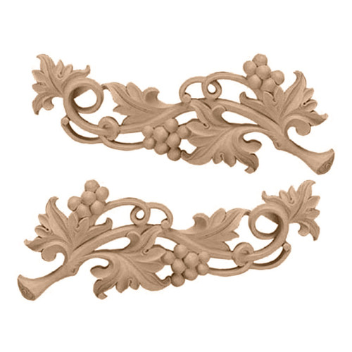 Grape Scrolls Pair, Small (ONL09X03X01GR)