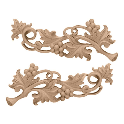 Grape Scrolls Pair, Large (ONL14X05X01GR)