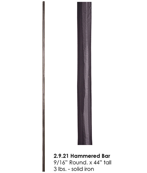 HF2.9.21 Forged Round Bar, Solid Iron