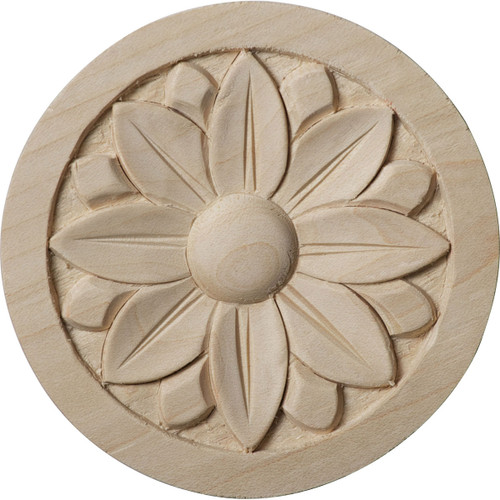 """Bedford Rosette, 3-1/2"""" Wide (ROS03X03BE)"""