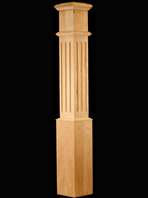 C-4095-F Large Fluted Traditional Box Newel