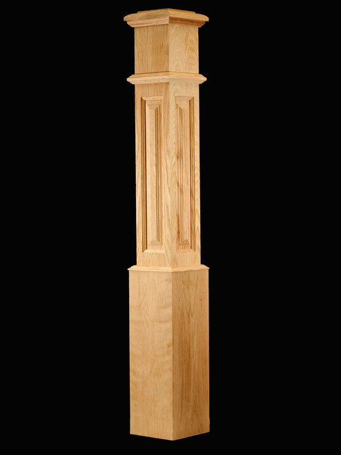 C-4891-RP Large Raised Panel Traditional Box Newel