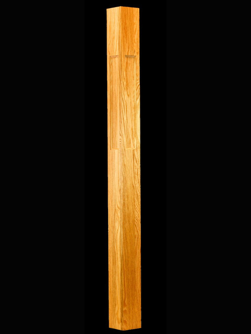"C-4089 4-1/2"" IBN Flat Panel Interchangeable Box Newel Post, Red Oak"