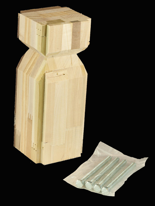 "C-4089 4-1/2"" IBN Flat Panel Interchangeable Box Newel Post, Red Oak"