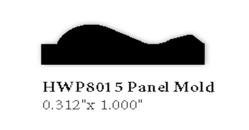 "8015 0.312"" x 1"" Panel Molding"