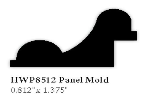 8512 Hardwood Panel Mold