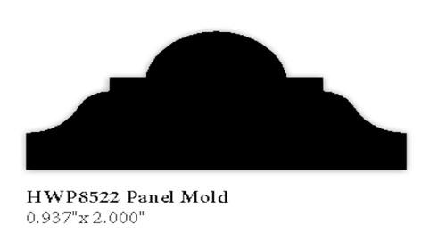 """8522 2"""" Hardwood Panel Mold"""