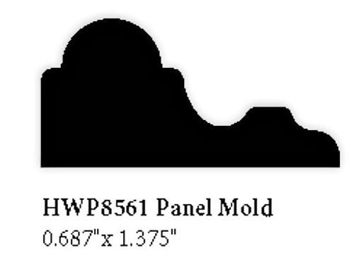 8561 Hardwood Panel Mold