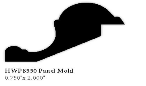 """8550 3/4"""" x 2"""" Hardwood Panel Mold"""