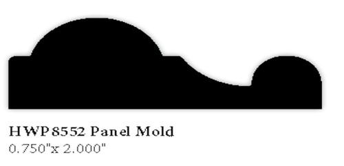 """8552 3/4"""" x 2"""" Hardwood Panel Mold"""