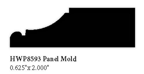 """8593 2"""" Hardwood Panel Mold"""