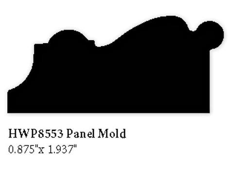 """8553 Hardwood Panel Molding, .875"""" x .937"""""""