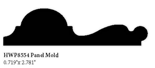 """8554 Hardwood Panel Molding, .719"""" x 2.781"""""""
