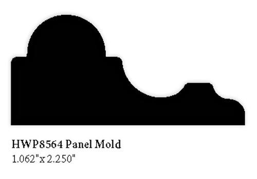 """8564 Hardwood Panel Molding, 1.62"""" x 2.25"""""""