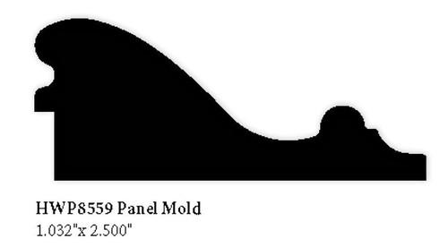 """8559 Hardwood Panel Molding, 1.032"""" x 2.5"""""""