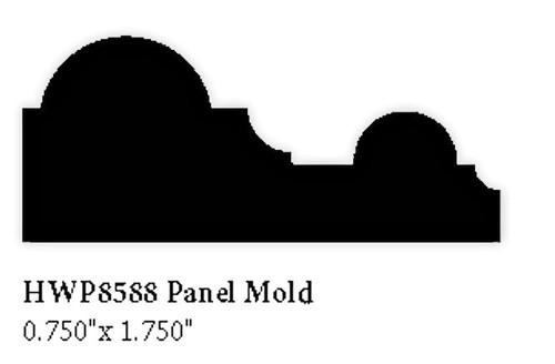 """8588 Hardwood Panel Molding, 0.75"""" x 1.75"""""""