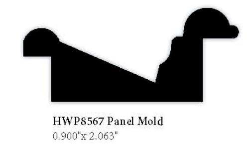 """8567 Hardwood Panel Molding, 0.9"""" x 2.063"""""""