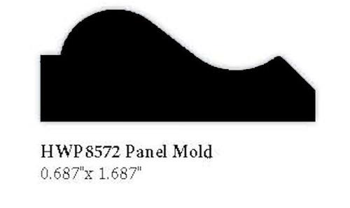 """8572 Hardwood Panel Molding, 0.687"""" x 1.687"""""""