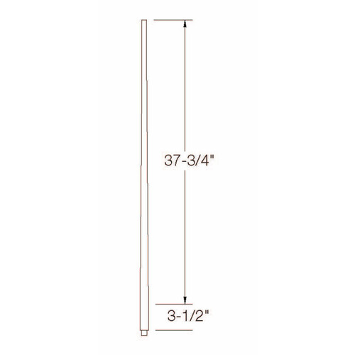 """A-5040 1-1/4"""" x 42"""" Colonial Long Tapered Baluster Dimensional Information"""