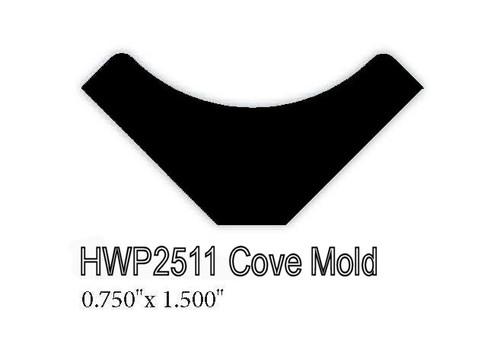 "2511 .75"" x 1.5"" Cove Molding"