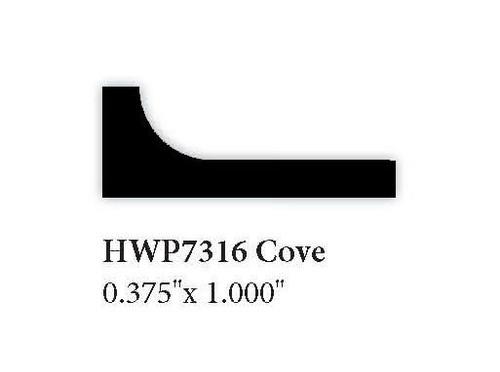 "7316 0.375"" x 1"" Cove Molding"