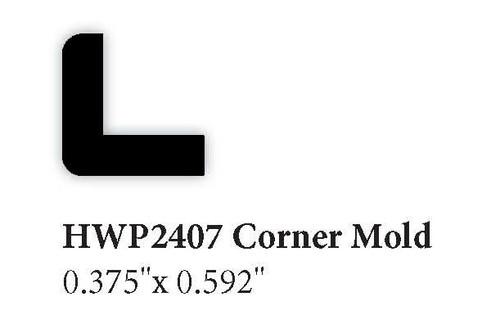 """2407 0.375"""" x 0.592"""" Corner Molding"""