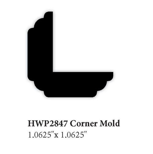 """2847 1.062"""" x 1.062"""" Corner Molding"""