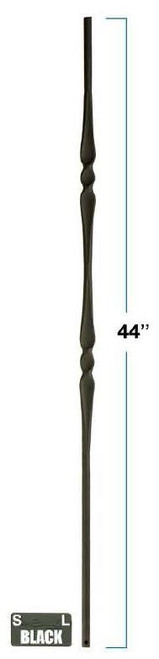 2972 Round Single Knuckle Gothic Baluster Dimensional Information