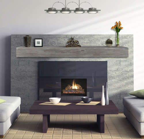 """The Shenandoah Shelf, 48"""" Cottage Gray, Life-style view without corbels"""