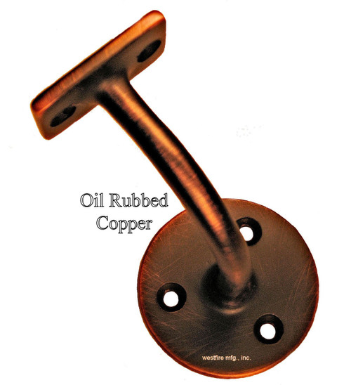 3004SB-ORB Solid Brass Oil Rubbed Copper Rail Bracket (2)