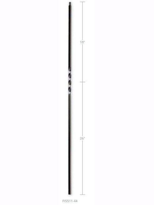 FI5511-44 Single Twist Iron Baluster