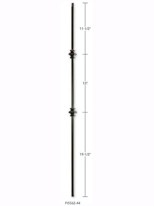 FI5562-44 Plain Two Knuckle Iron Baluster