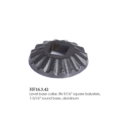 """HF16.3.42 Round Scalloped Shoe for 9/16"""" (14mm) Square Balusters"""