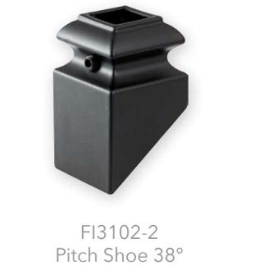 """FI3102-2 Iron Pitch Shoe for 9/16"""" Balusters"""