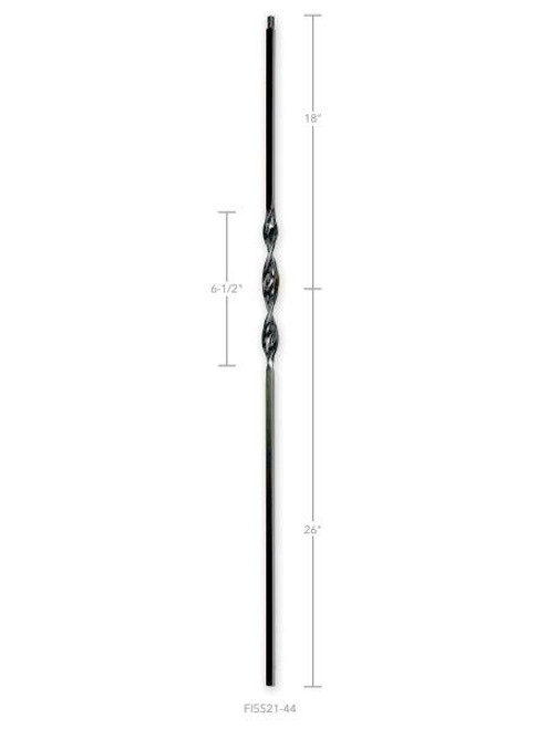 FI5521-44 Single Ribbon Iron Baluster